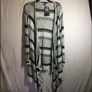 NWT INC International Concepts Waterfall Cardigan